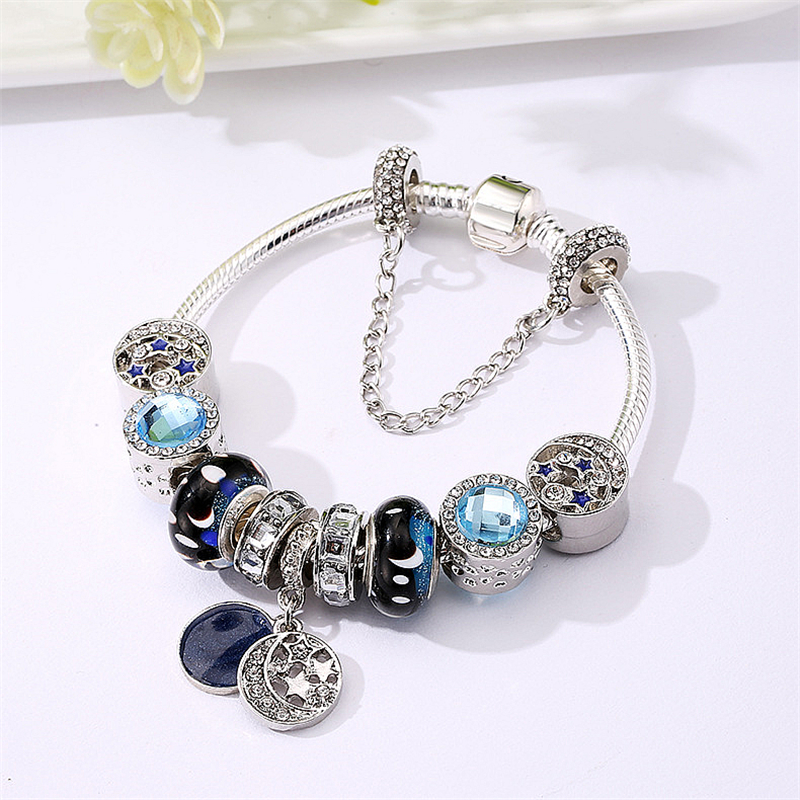 SAILOR/'S KNOT w//Crystal .925 Sterling Silver European Charm Bead Q2