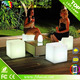 rechargeable waterproof led light cube full color change led cube chair
