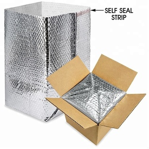 reflection barrier aluminium foil woven cloth xpe foam Insulated Foil Bubble Box Liners for cold