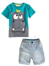 baby Boys Summer Sets Boys Brand Clothing Set Kid Apparel T-shirt+Shorts free shipping