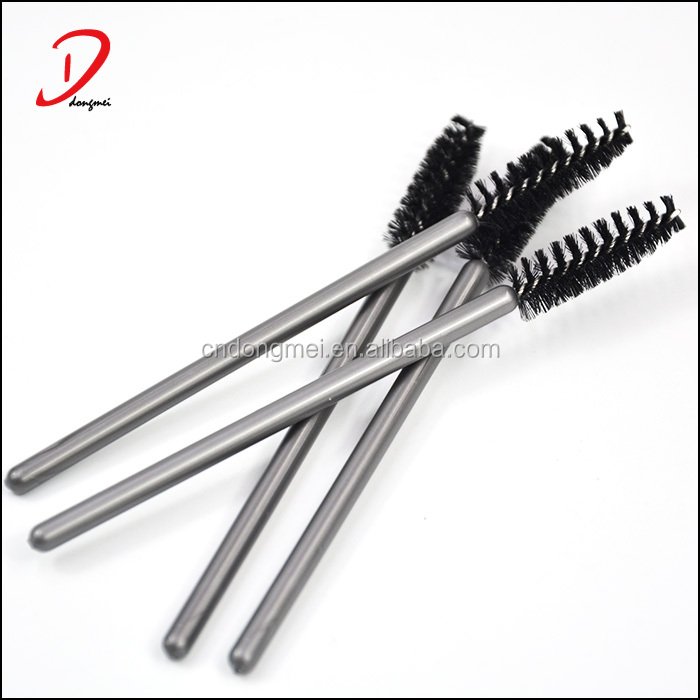 2017 Hot selling disposable silver plastic handle eyelash mascara wands applicators
