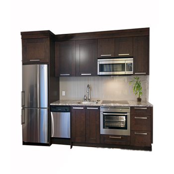 Ak1600 Wooden Kitchen American Cherry Solid Wood Indian Modular