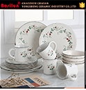 Manufacturer Wholesale Round 4 Piece Ceramic Bathroom Accessories Set