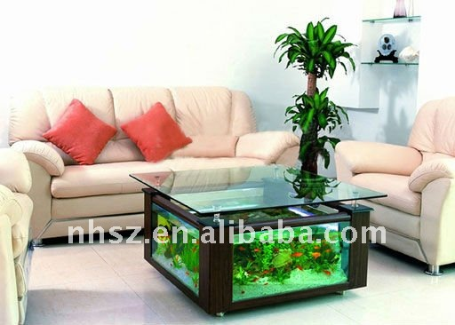 coffe table fish tank aquarium