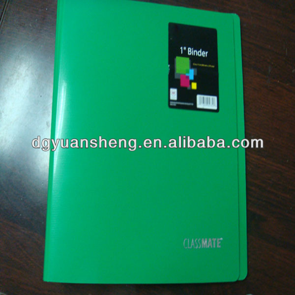 printing plastic folder a4 size 3 hole ring binder