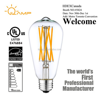 Led Edison Filament Bulb 100 Watt Equivalent 6000k St64 Dimmable Long Light Bulbs Lamp