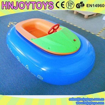 Warehouse price colorful battery operated toy boat, inflatable battery powered boat