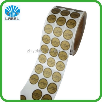 Factory price custom gold color printing small round stickers