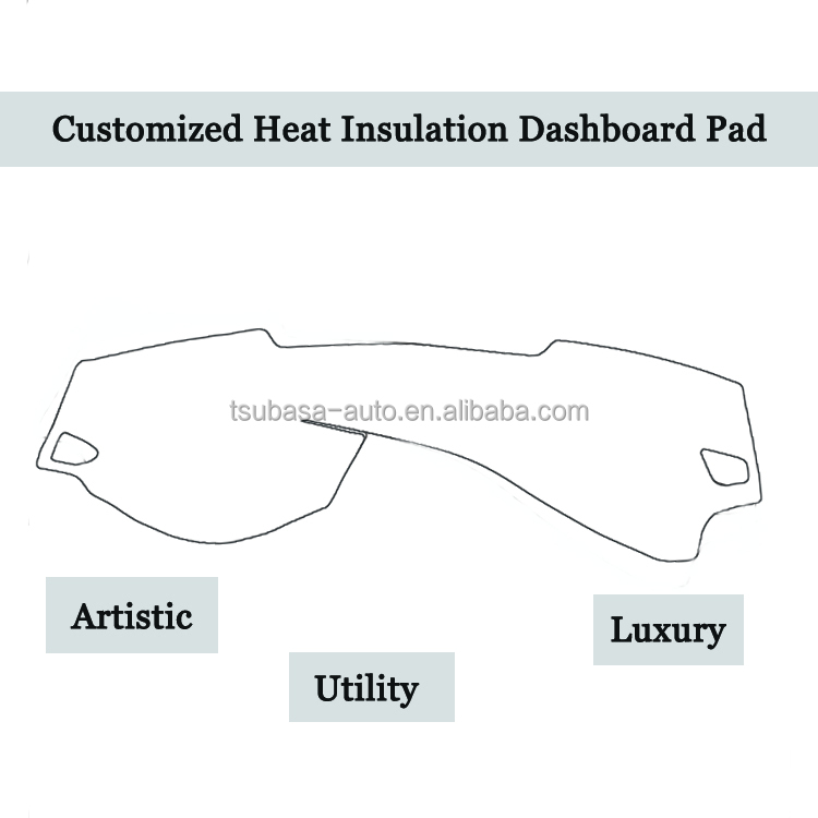 Japan Quality China Made Custom perfect fit car dashboard mat heat insulation cover forbmw 3series