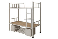 High Quality KD Folding Used Home Area Super Bunk Two Person Metal Bed with Mattress