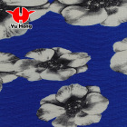 Yuhong 100% polyester printing bubble crepe chiffon fabric for dress and garment