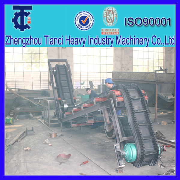 Ore Belt Conveying Machine/big inclination belt conveyer