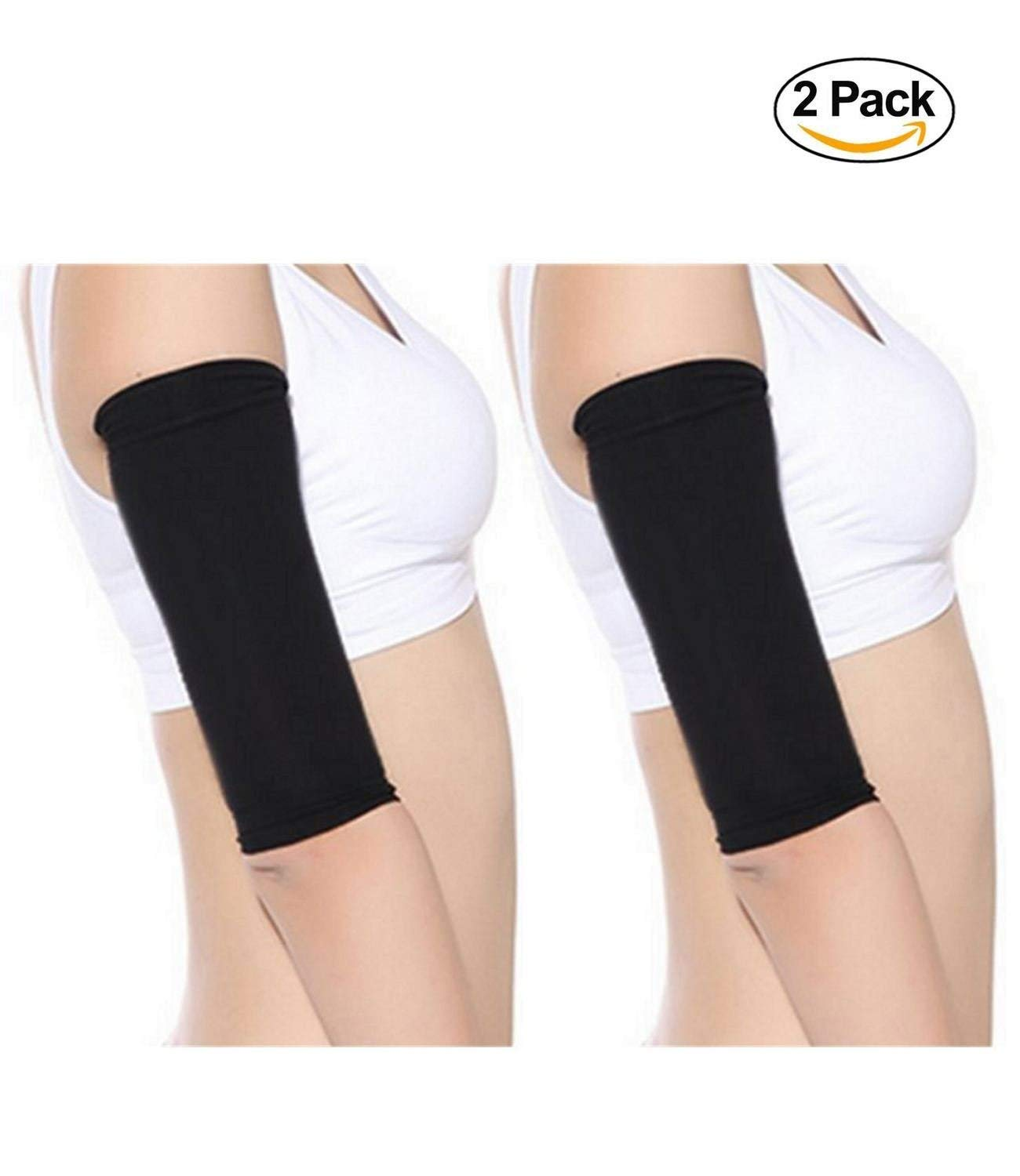 edbf7ecc6b62b Get Quotations · Starmace 2 Pack Slimming Arms Shaping Tone Energize Upper  Arm Compression RV Sun Protection Support Sleeves