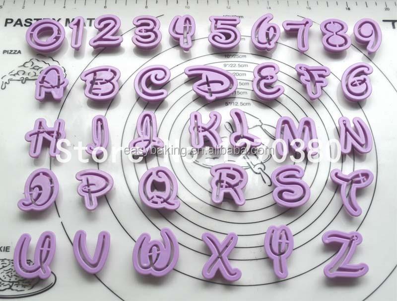 Fondant Cake Decoration Tools Font Alphabet Cutter number Letters cutter set.jpg