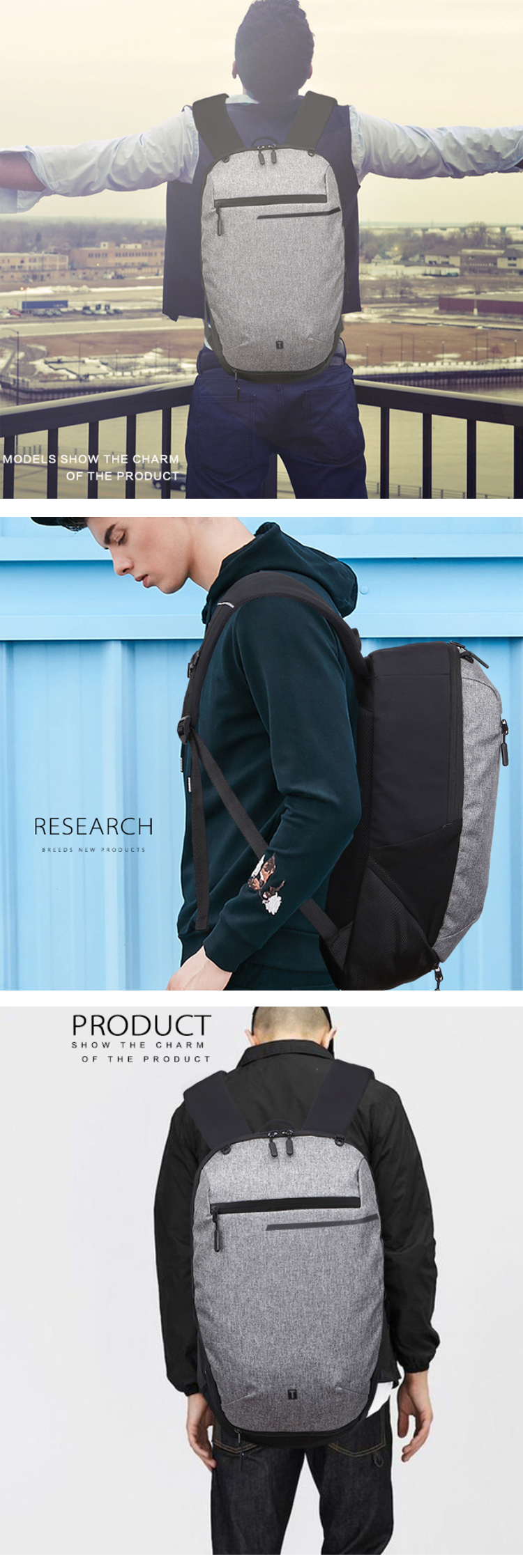 Osgoodway2 Multipurpose Trendy Students Bag Basketball Sport Backpack with Charger