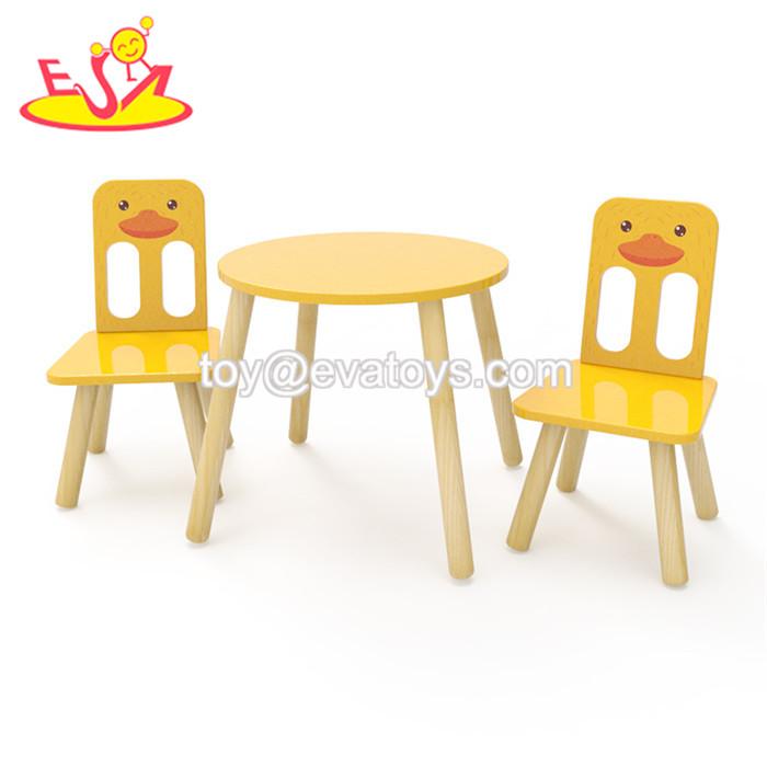 Barato Al Por Mayor Kindergarten Dibujos Animados Pato Pintado Mesa De Madera Y Sillas Para Niños W08g236 Buy Mesa Y Sillasmesa Y Sillas Para