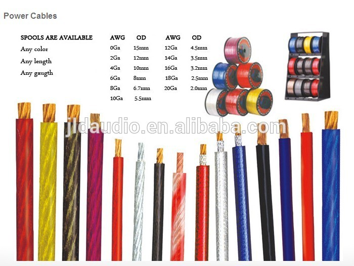 jld Audio RCA Cable with PRO and hpm grades for car  OFC conductors Made from China OEM factory