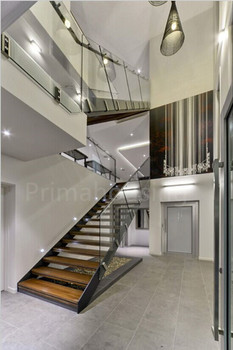 Interior Stairs Designs Indoor Wooden Staircase Railing Steel Beam ...