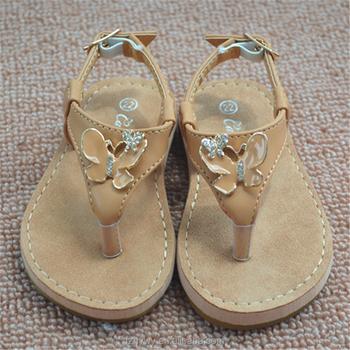 d19477dd99d2 2018 Fashion designed girls hollow flat slide sandal butterfly children  kids shoes