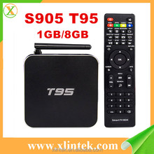 wholesale android smart tv set top box T95 amlogic s905 quad core mx plus 1/2gb ram 8gb rom kodi tv box