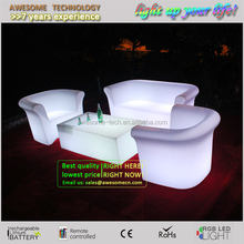 luxury decorative living room furniture / led light illuminated living room sofa