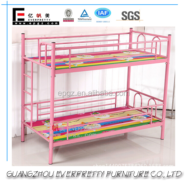 Popular Pink Cheap Queen Size Metal Adult Bunk Bed
