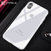 2019 cafele newest mobile accessories case glass transparent back clear cell phones cases cover for iphone x/xs /xr xs max