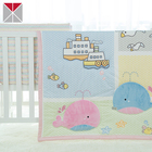 Whale applique 100% cotton flannel fabric for baby bedding set
