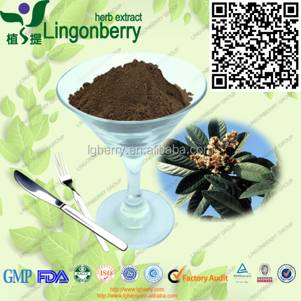 natural 4:1, 10:1, 20:1 hepatoprotective loquat leaf extract powder