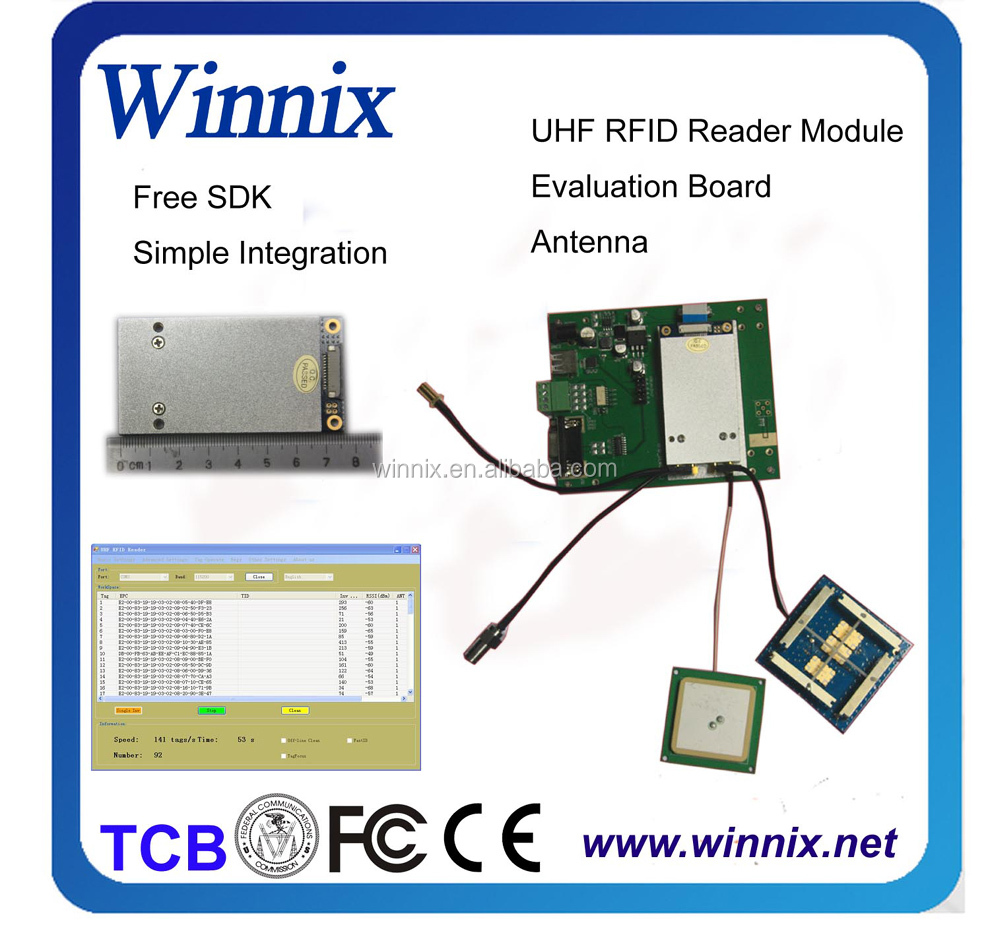 rfid ultra high frequency(rfid) reader module with rs232, ethernet, GPIO, linux operation system