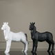 Antique Origami resin white horse statue