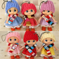 2Pcs Set Mini Soft Doll Toy Lovely Confused Doll Plush Phone Pendant Scarf Girl Doll Kids