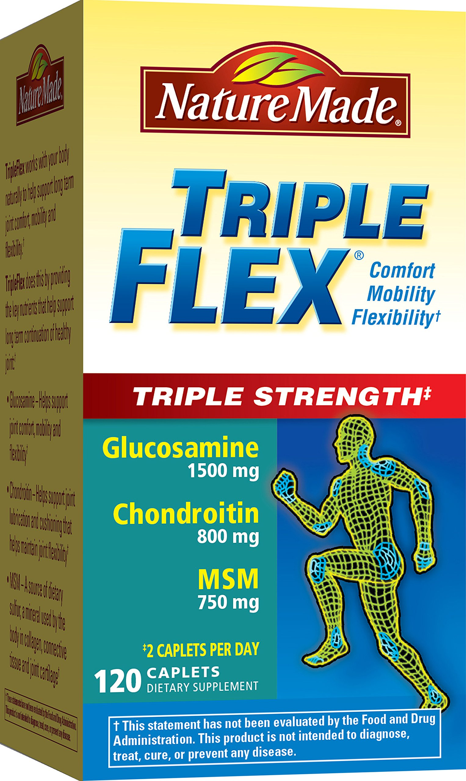 Cheap Glucosamine Chondroitin Triple Strength Find Puritan Pride Joint Soother Msm 90 Caplets Get Quotations Nature Made Tripleflex Caplet Value Size 120 Ct