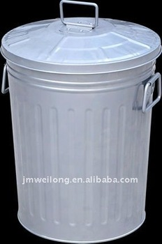 galvanized metal trash cankitchen metal garbage bin