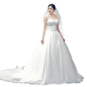 Rsm66577 Plus Size Wedding Dress White Latest Sweetheart Pattern ...