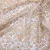 African gold guipure lace fabric chemical embroidery lace fabric cord lace