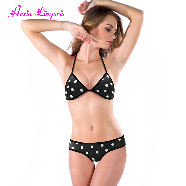f3e3ca9234 Custom Sexy Bikini Young Girl Black Dot Korean Hot Girl Bikini - Buy ...