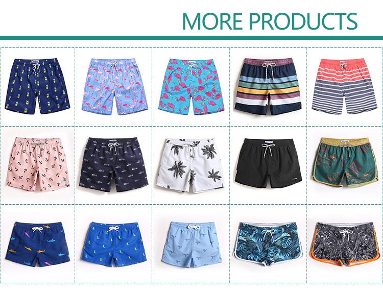 Custom พิมพ์กระดูกปลาชายหาดสั้นกางเกงชาย beachwear กางเกงขาสั้นชายหาด