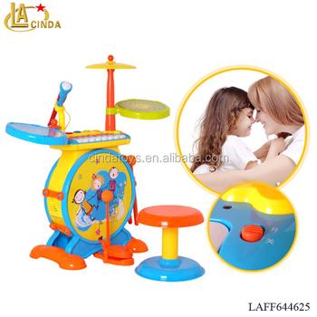 323ea91d3 Boa qualidade brinquedos do bebê multifunções instrumento musical jazz  tambor de plástico brinquedos educativos ...