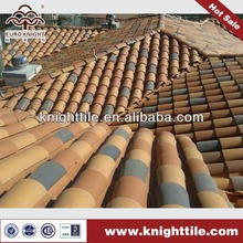 natural clay barrel roof ridge tile
