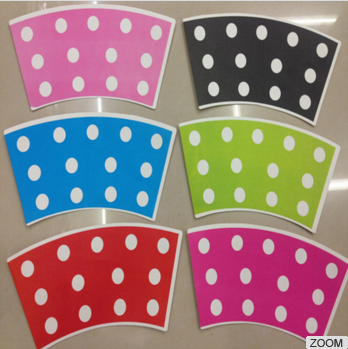 Top Selling Polka Dots Series Disposable Different Size Colorful Paper Trays