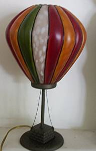 "11"" Decorative Multi-color Glass Hot Air Balloon Lamp"