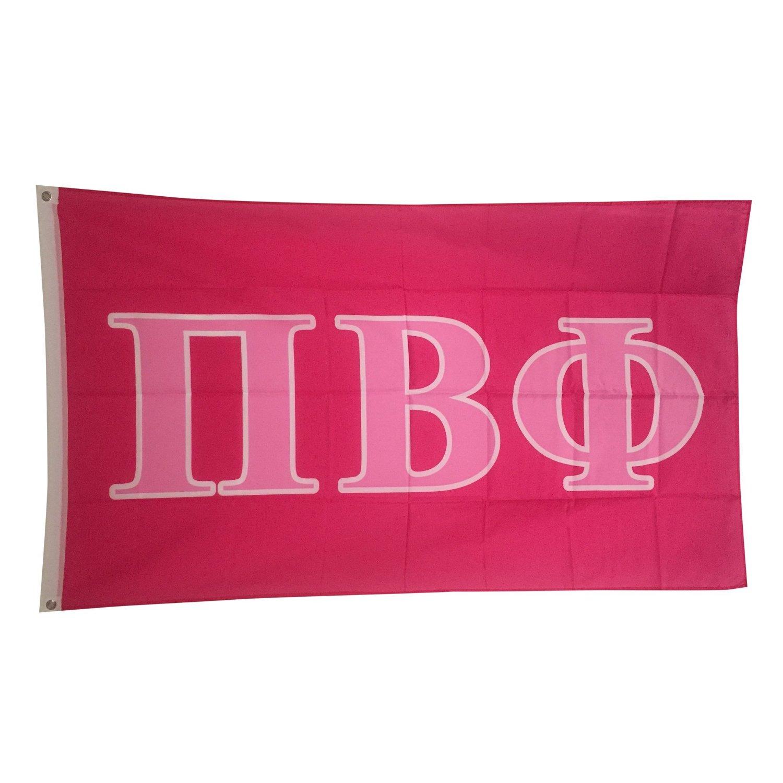 Pi Beta Phi Dark Pink/Light Pink Letter Sorority Flag Greek Letter Use as a Banner 3 x 5 Feet Pi Phi