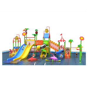 hot sale water park equipment large plastic water slide for kids