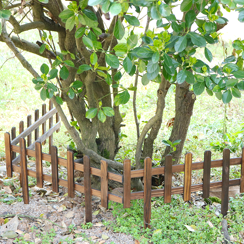 Eco Friendly Decorative Flower Garden Fencing Outdoor Wood Garden