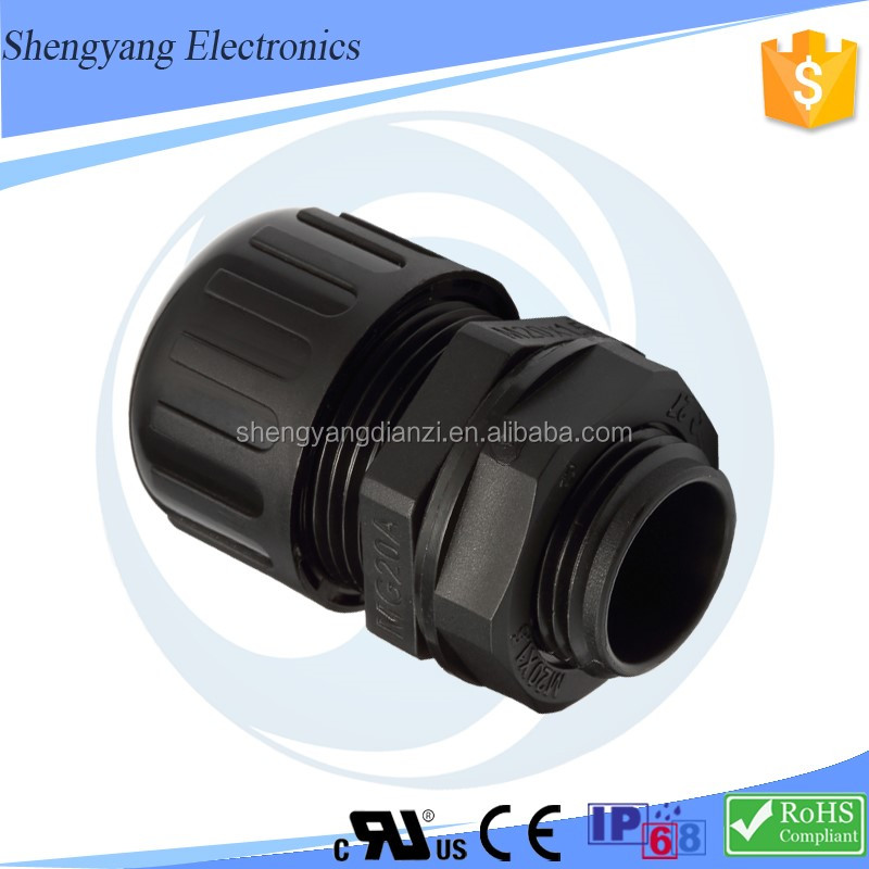 New Products MG / PG ROHS / IP68 Certification Resistant Chemical Erosion Reduce Vibration Straight Quick Conduit Connector
