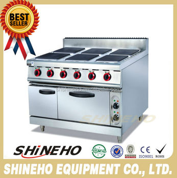 W085 Commercial Kitchen Equipment Electric Range With Six ...