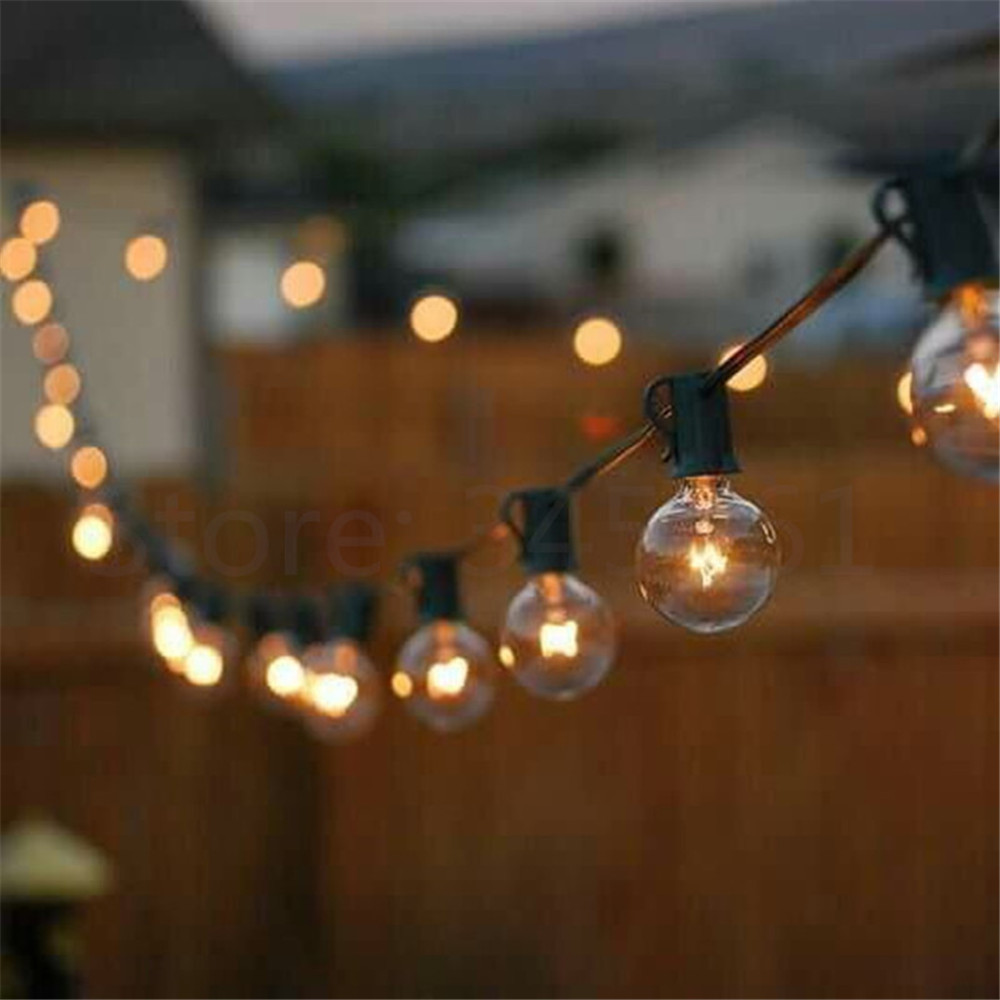 Patio Lights G40 Globe Party Christmas String Light,Warm ...