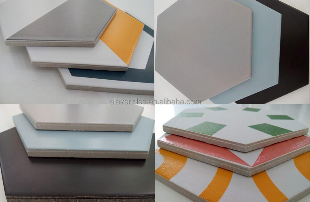 Tercera dimensión naranja hexagonal de cerámica para piso ers692 ...