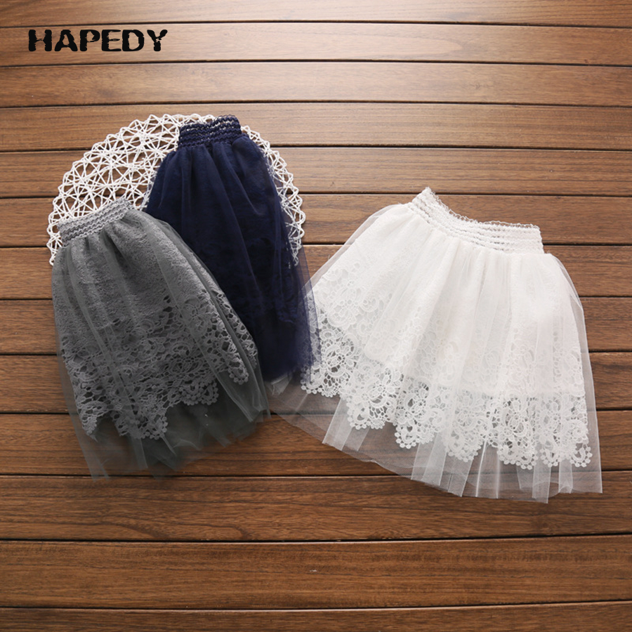 Kids Dancing Princess Lace TuTu Dresses White Pleated Skirt Girls